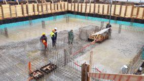 Напредък в строителството на многофамилна жилищна сграда