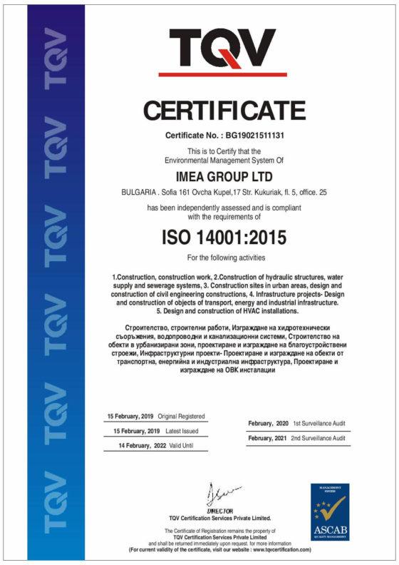 ISO 14001:2015 – международен стандарт