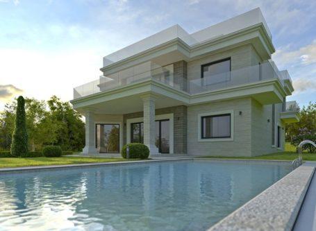 Еднофамилна жилищна сграда с басейн - кв. Св. Никола, гр. Варна - строителна компания Варна